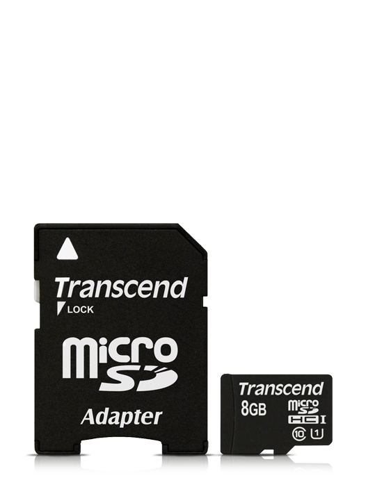 Card de memorie 8GB MicroSDHC + adapter Transcend CL 10
