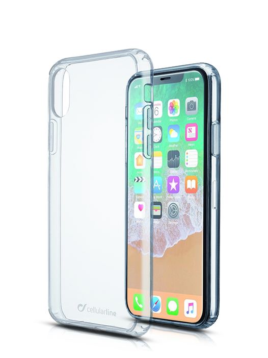 Husă iPhone X Silicon Clear Duo Cellularline