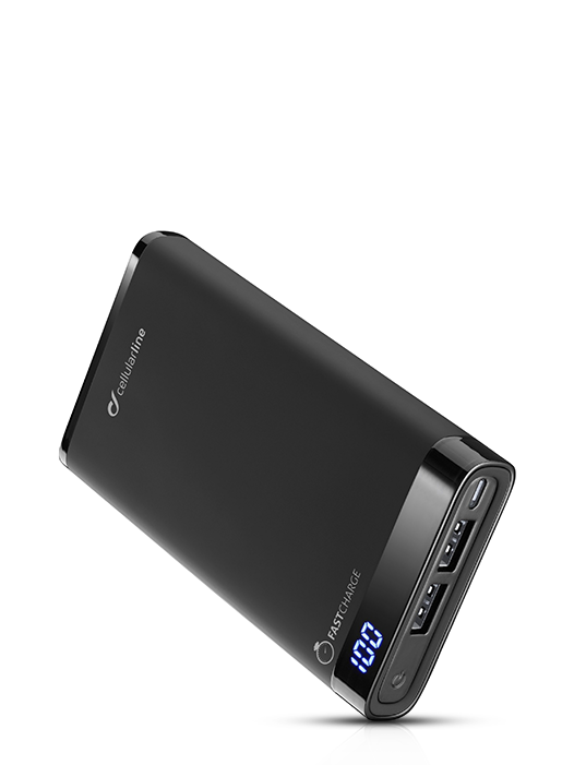 Power Bank Cellularline slim, 12000 mAh